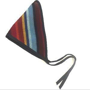70s Vintage Rainbow Kerchief/Ascot